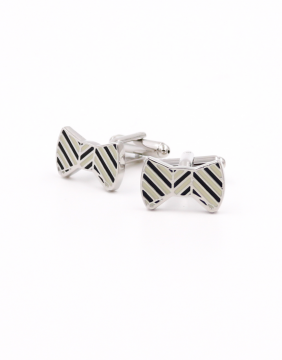 Bowtie black & white Cufflinks