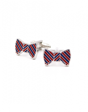 Bowtie red & blue Cufflinks