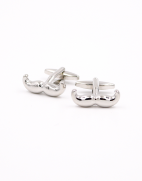 Mustaches silver Brussels Cufflinks