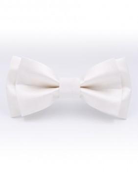 Bianco Silk Bow Tie