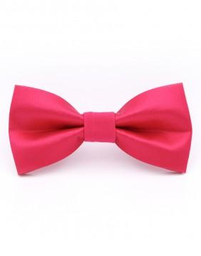 Fuxia Silk Bow Tie